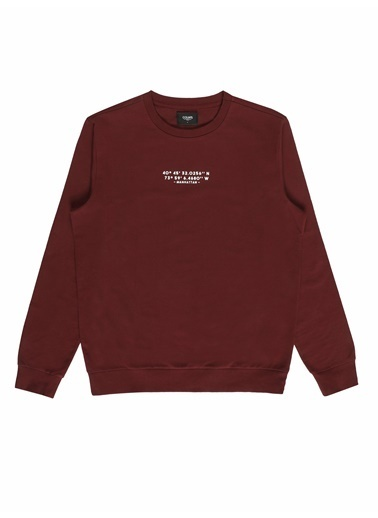 Colin's Regular Fit Erkek Bordo Sweatshirt Bordo